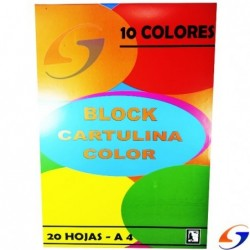 BLOCK CARTULINA COLOR SP A4 BLOCKS
