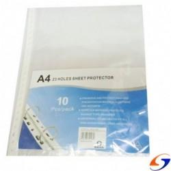 FUNDAS PROTECTORAS REPUESTO A4 23 PERF. X10 FOLIOS