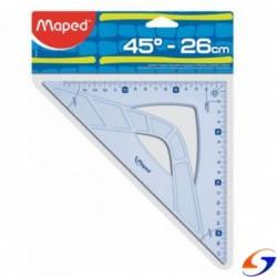 ESCUADRA MAPED GRAPHIC 26CM. 45º O 60º ESCUADRAS