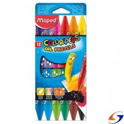 OLEO PASTEL MAPED 12 COLORES OLEOS