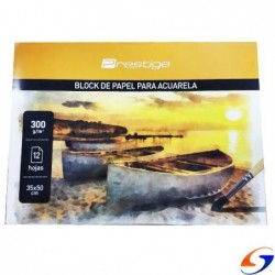 BLOCK DIBUJO ACUARELAS PRESTIGE 35x50CM.