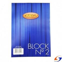 BLOCK LISO OMEGA 13X20CM.