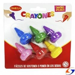 CRAYOLAS OMEGA COLOR BABY X6 CRAYOLAS