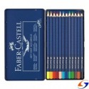 LAPICES DE COLORES FABER ACUARELABLE LATA X12 FABER