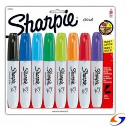MARCADORES SHARPIE CHISEL BISELADO X8 SHARPIE