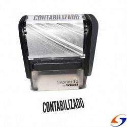 SELLO AUTOMATICO CONTABILIZADO 38 X 14 MM.