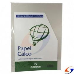 PAPEL CALCO A4 150GR. X 18 HOJAS ESCOLARES