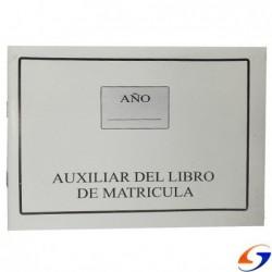 AUXILIAR DEL LIBRO DE MATRICULA 32HOJAS LIBRETONES y LIBROS