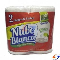 TOALLAS COCINA NUBE BLANCA FUNDA X24 ROLLOS TOALLAS