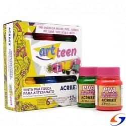 PINTURA ARTESANAL ACRILEX ART TEEN SET X6 AD