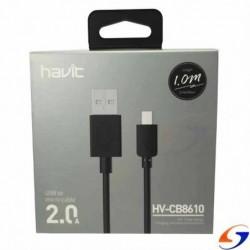 CABLE CELULAR USB A MICRO USB 1MT. CABLES Y ADAPTADORES