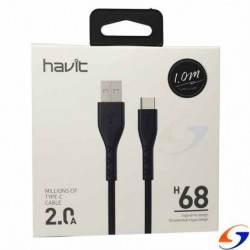 CABLE HAVIT USB A MICRO USB TIPO C 1MT.