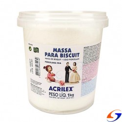 PORCELANA FRIA ACRILEX BISCUIT 1kilo MASAS Y PLASTICINAS