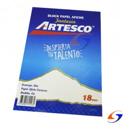 BLOCK AFICHE ARTESCO FNTASIA 25X35CM. BLOCKS