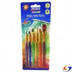 SET PINCELES SINTETICOS ARTESCO X6 PINCELES