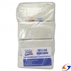 TOALLAS INTERCALADAS NUBE BLANCA 20X21CM. X6000 TOALLAS